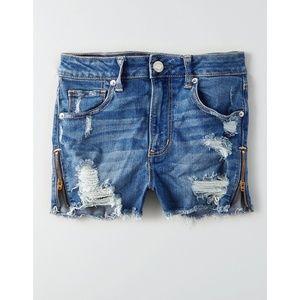 American Eagle Zipper Zip Up Jean Denim Shorts